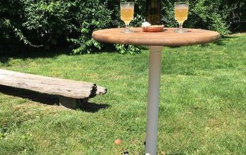 Make an Outdoor Drink Pedestal Table Your Guests Will Love