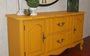 french provincial in fresh mustard, painted furniture