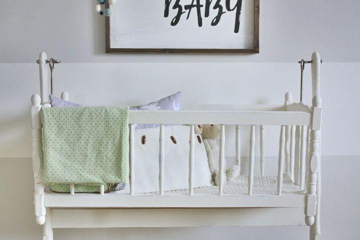 soft nursery neutrals, bedroom ideas, painted furniture, rustic furniture