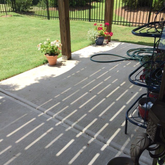 q painting the cement patio, concrete masonry, painting, painting concrete - Painting The Cement Patio Hometalk
