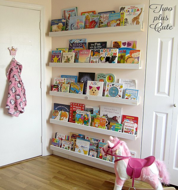 Diy bookcase ledges for our nursery hometalk for Book bedroom ideas