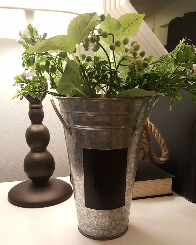 An Old Galvanized Vase Gets A Diy Rustic Look Hometalk