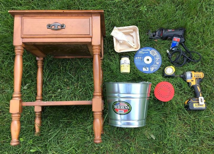 end table drink station, how to, outdoor furniture, painted furniture, repurposing upcycling, woodworking projects