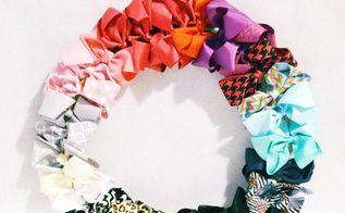 diy hair bow wreath for a baby girl, bedroom ideas, crafts, wreaths