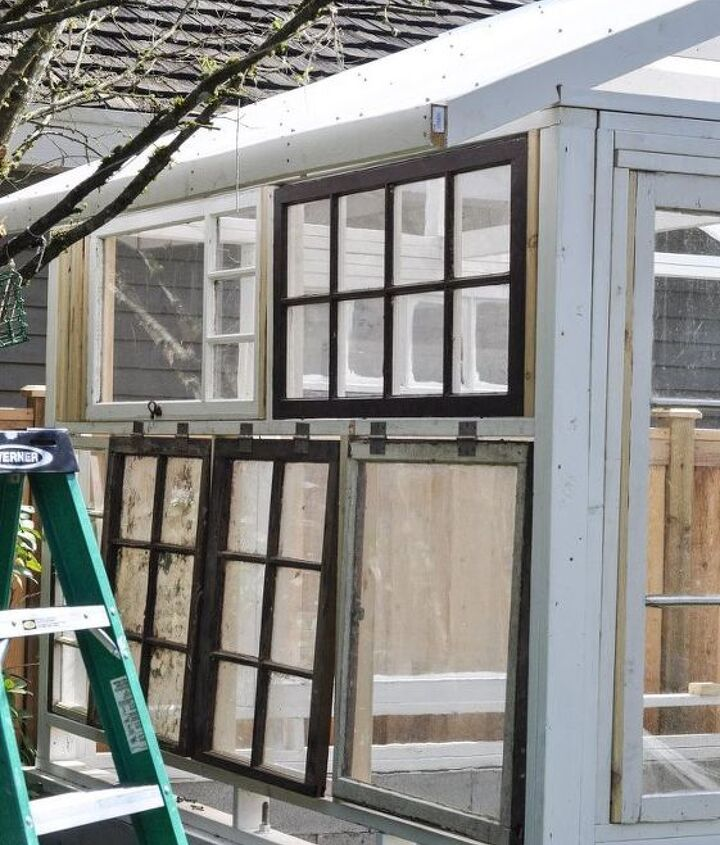 build a greenhouse from vintage windows, gardening, home improvement, outdoor living