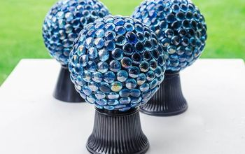 how to make a gorgeous garden gazing ball with these easy tips, crafts, gardening, how to, repurposing upcycling