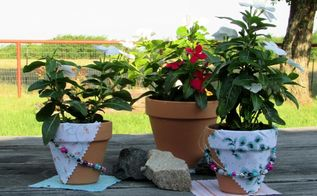 summer bead challenge using clay pots, crafts, gardening