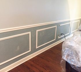 Adding Wainscoting And New Paint To Our Living Room, Home Decor, Painting,  Wall