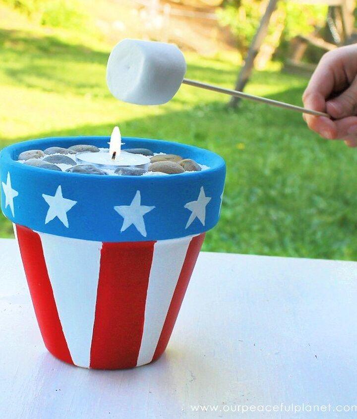 mini campfire smores kit, crafts, outdoor living, patriotic decor ideas, seasonal holiday decor