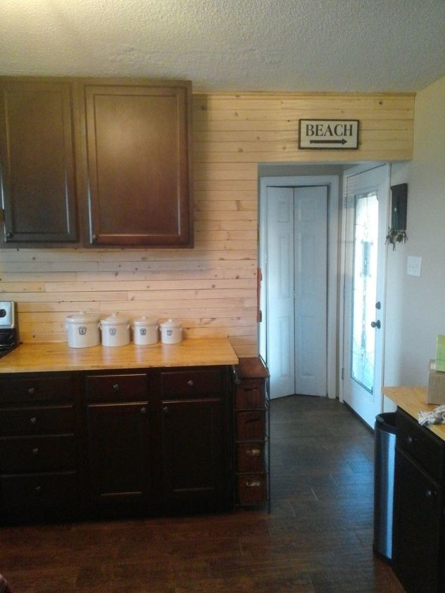 s 12 shiplap ideas that are hot right now, home decor, wall decor, Hang thin unfinished planks of pine