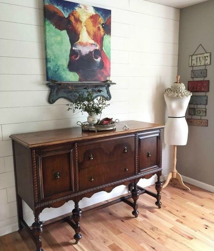 s 12 shiplap ideas that are hot right now, home decor, wall decor, Stagger planks of plywood for an accent wall