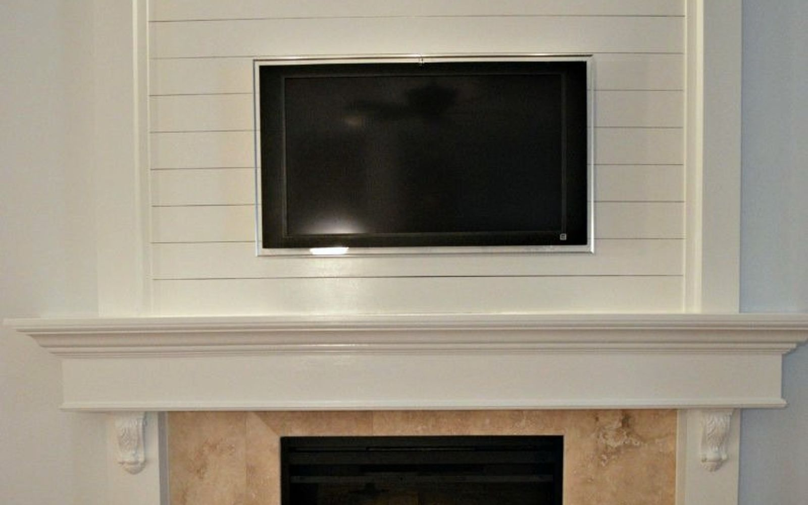 s 12 shiplap ideas that are hot right now, home decor, wall decor, Add shiplap detailing around your fireplace