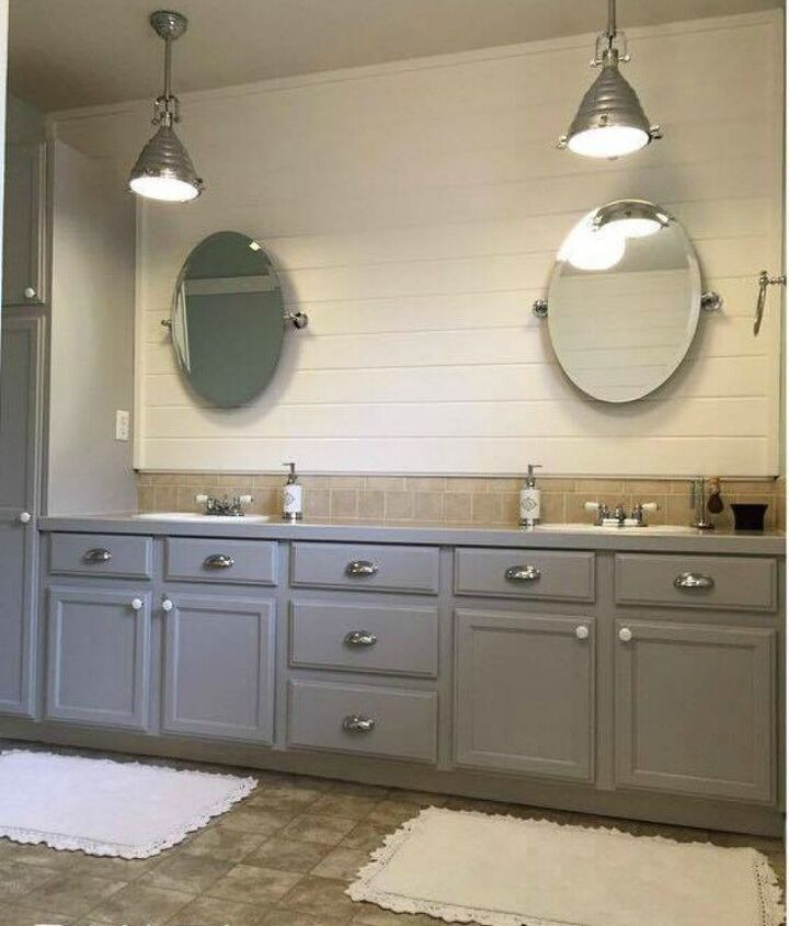 s 12 shiplap ideas that are hot right now, home decor, wall decor, Frame plank the top half of a blank wall