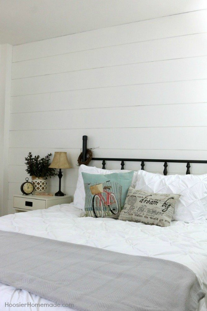 12 shiplap ideas that are hot right now hometalk for Farmhouse bedroom decor