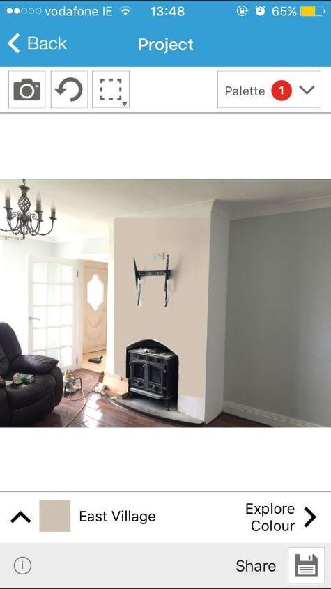 q decor mix match dilemma , home decor, home decor dilemma, paint colors, Messing around with crown colour app