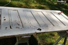 from old door to headboard, chalk paint, doors, painted furniture, repurposing upcycling, shabby chic