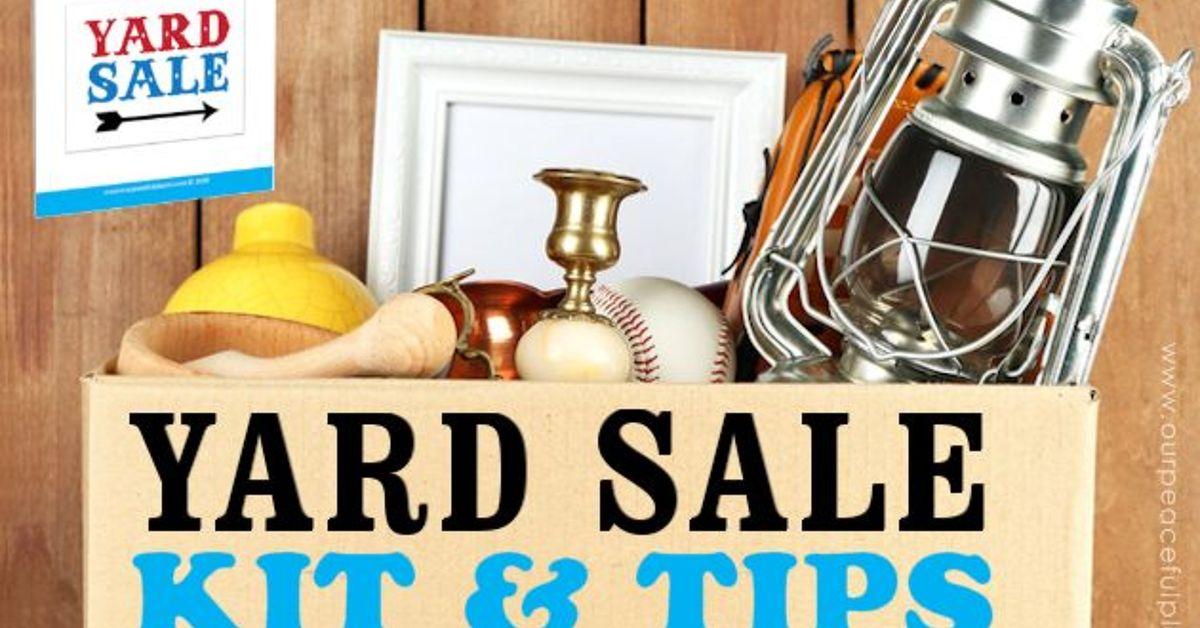 Yard Sale Kit Tips Declutter Profit