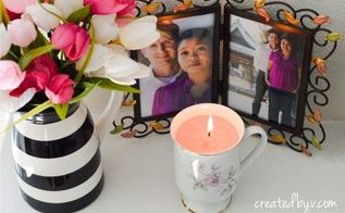 turn vintage teacups into candles, crafts, repurposing upcycling