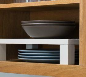 Make A Raised Shelf To Maximize Cabinet Space, Kitchen Design, Organizing, Shelving  Ideas