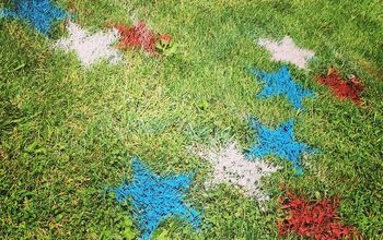 painted yard stars, how to, lawn care, patriotic decor ideas