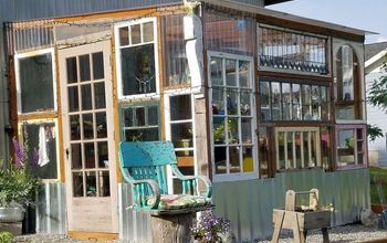 old windows greenhouse, diy, gardening, home improvement, outdoor living