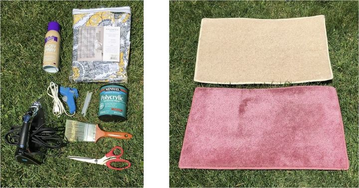 Covering Rugs in Shower Curtains | Hometalk