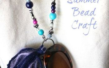 organize your beach bag in style with a beaded sunglass holder, crafts, organizing