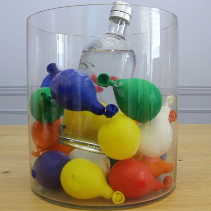 summer party balloon cooler, crafts, outdoor furniture, seasonal holiday decor