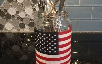 Easy 4th of July/Patriotic Glass Jar Craft With SO MANY Uses!