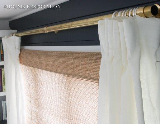 Diy brass drapery rods home decor window treatments