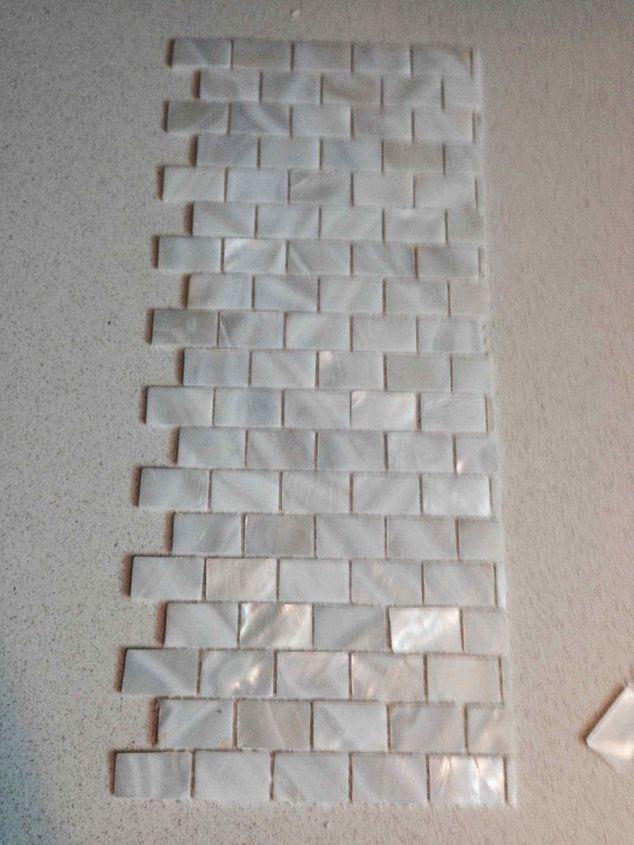 Mother or Pearl tile for the Backsplash