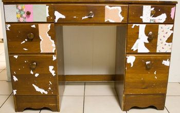 sad sad desk gets a much needed makeover, bedroom ideas, painted furniture
