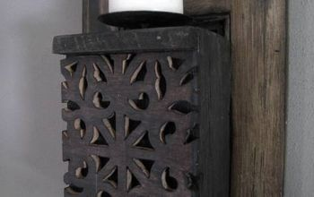 Vintage Shutters Wall Sconce Diy