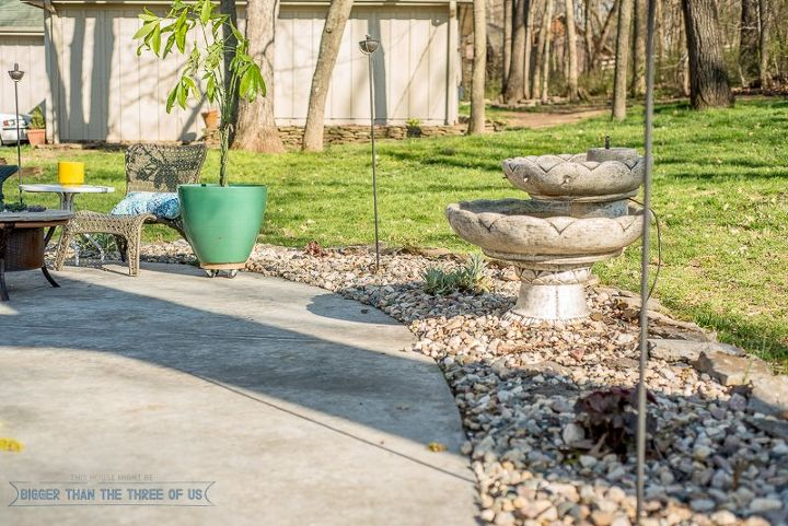 landscaping with rock instead of mulch, gardening, landscape, outdoor living, patio