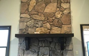 Gray-Wash A Stone Fireplace