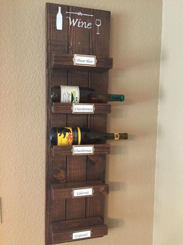 DIY Wood Wine Rack | Hometalk