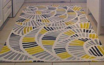 Painted Kitchen Floor Cloth