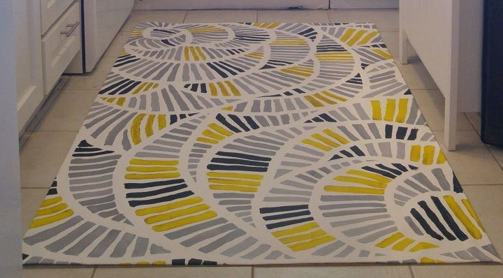 linoleum floor cloths painted kitchen floor cloth hometalk