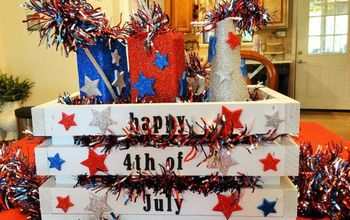 july 4th center piece, crafts, how to, patriotic decor ideas, seasonal holiday decor