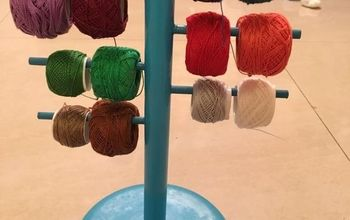 Ikea Hack: Paper Towel Holder Turned Into a Crochet Thread Organizer