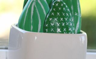 diy faux cacti in a pot , crafts, gardening, how to