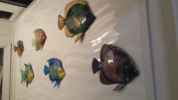 Q How To Hang Decorative Fish On Porcelain Tile Wall Decor
