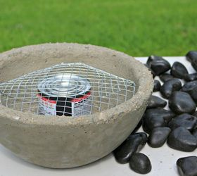 Diy Tabletop Fire Bowl, Concrete Masonry, Outdoor Living