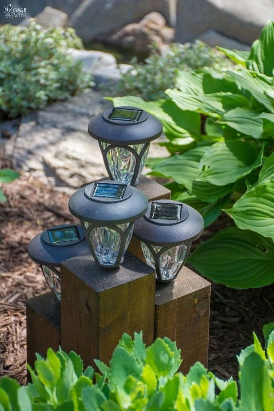 diy cedar cube landscape lights hometalk