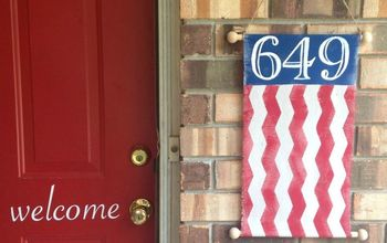 Patriotic Street Number Banner Tutorial