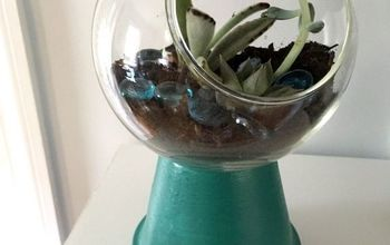 Make a Faux Gumball Machine Terrarium