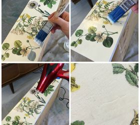Amazing Floral Inspired Decoupaged Image Transfer Dresser, Decoupage, How To,  Painted Furniture