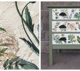 Lovely Floral Inspired Decoupaged Image Transfer Dresser, Decoupage, How To,  Painted Furniture