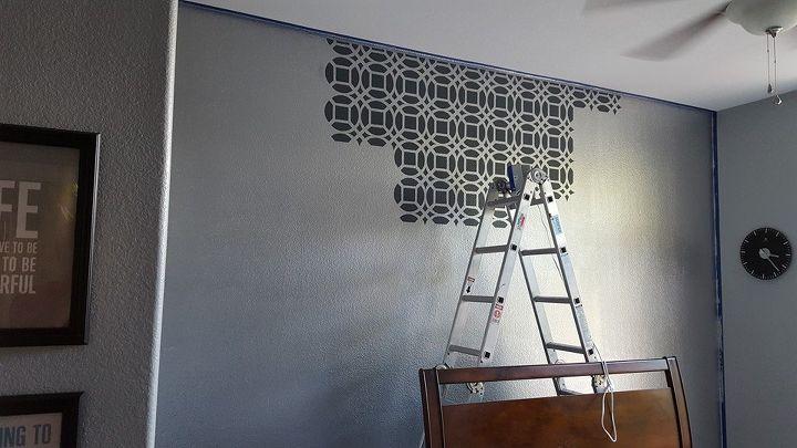 Master Bedroom Stencil Accent Wall | Hometalk