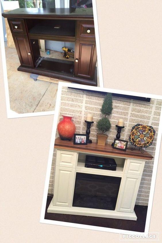 electric fireplace gets a facelift hometalk. Black Bedroom Furniture Sets. Home Design Ideas